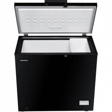 Lada frigorifica Heinner HCF-205NHBKF+, 200 l, Control elecronic, Waterproof Display, Clasa A+, Negru, Winter Protection