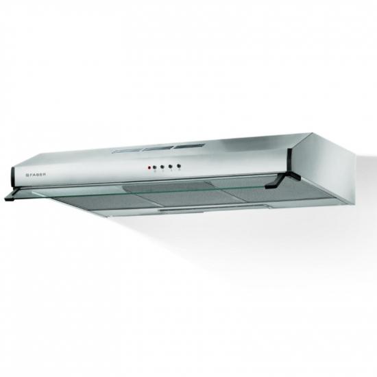 Hota traditionala Faber 741 PB X A60, 60 cm, viziera, 1 motor, 295 m3/h, 69 dB, filtru aluminiu, clasa D, iluminare LED, control butoane, Inox