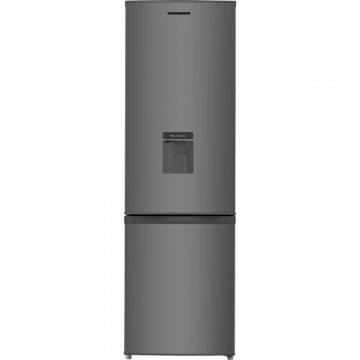 Combina frigorifica Heinner HC-N268SWDF+, 262 l, Clasa A+, Dozator de apa, Iluminare LED, Control mecanic, Termostat ajustabil, H 180 cm, Argintiu
