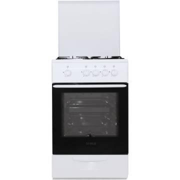 Aragaz Samus SM 550 ANS, 4 arzatoare, Siguranta plita + cuptor, 3 Ani garantie, Alb