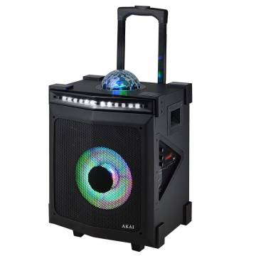 Boxa portabila Akai ABTS-80, discoball, Karaoke, negru