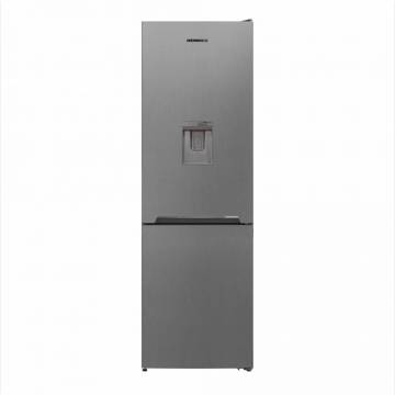 Combina frigorifica Heinner HCNF-V291XWDF+, 295l, Full No Frost, Dozator de apa, Functie super congelare, Clasa F, 186 cm, Argintiu