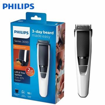 Aparat de tuns barba Philips BT3206/14, Lame din inox 0.5-10mm, Alb/Negru