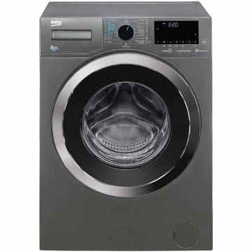 Masina de spalat rufe cu uscator Beko HTV8736XC0M, Spalare 8 kg, Uscare 5 kg, 1400 RPM, Clasa C, HomeWhiz, SteamCure, Hygiene+ Wash&Dry, Motor ProSmart Inverter, Gri