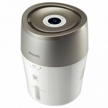 Umidificator de aer Philips HU4803/01, Tehnologie NanoCloud, Rezervor 2 l, 220 ml/h, Alb/Gri