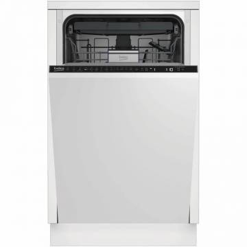 Masina de spalat vase incorporabila Beko DIS28120, 11 seturi, 8 programe, Clasa E, Motor ProSmart Inverter, AquaIntense, 45 cm