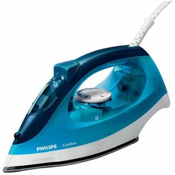 Fier de calcat Philips GC1436/20, 2000 W, 0.22 l, talpa anti-aderenta, Abur 100 gr/min, Albastru