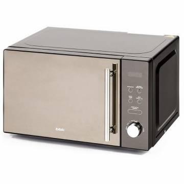 Cuptor cu microunde Premium BBK 20MWS-722T/B-M, negru, volum 20 L, putere 700 W, Black Mirror