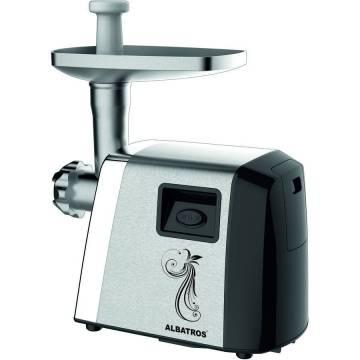 Masina de tocat Albatros MTA1800X, 1800 W, Accesoriu suc de rosii, Accesoriu pentru preparare fursecuri, Inox