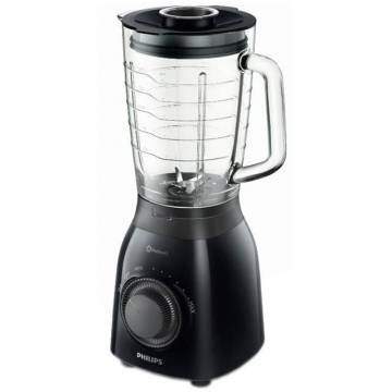 Blender Philips Daily Collection HR2173/90, 600 W, 1.5 l, Variospeed, Pulse, Negru