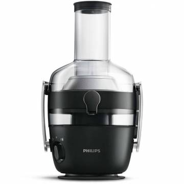 Storcator de fructe si legume Philips Avance Collection HR1919/70, 1000 W, Recipient suc 1 l, Recipient pulpa 2.1 l, 2 Viteze Fiberboost, Tub de alimentare XXL 80mm, Negru