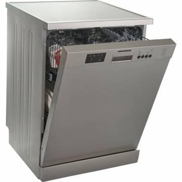 Masina de spalat vase Heinner HDW-FS6006DSA++, 12 seturi, 6 programe, Clasa A++, Control electronic, Display LED, 60 cm, Argintiu