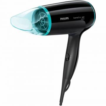 Uscator de par Philips Essential Care BHD007/00, 1800 W, 3 viteze, Cool Shot, Negru/Bleu
