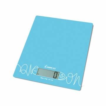 Cantar de bucatarie Momert 6854, 5kg, LCD, Albastru