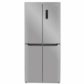 Side by Side Heinner HSBS-H401MNFX+, 401 l, Clasa A+, Full No Frost, Display Touch, LED, Control Electronic, Compresor Inverter, H 180 cm, Inox