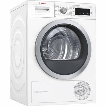 Uscator de rufe Bosch WTW85550BY, Pompa de caldura, 9 kg, 14 programe, Clasa A++, SelfCleaning Condenser, Alb