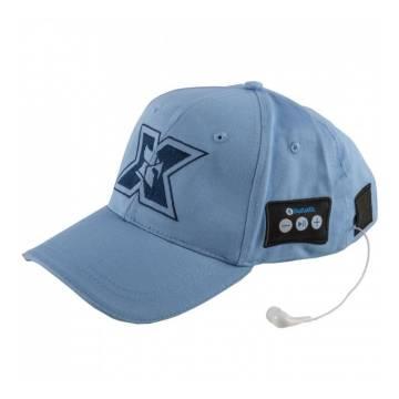 Sapca sport cu casti handsfree Seriuox, Bluetooth, 120 mAh, Albastru