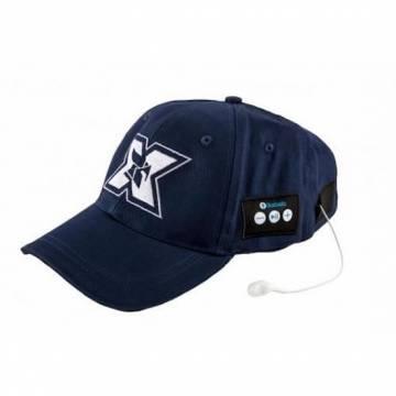 Sapca sport cu casti handsfree Seriuox, Bluetooth, 120 mAh, Bleumarin