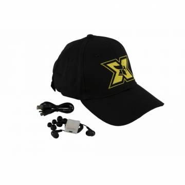 Sapca sport cu casti handsfree Seriuox, Bluetooth, 120 mAh, Negru