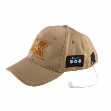 Sapca sport cu casti handsfree Seriuox, Bluetooth, 120 mAh, Khaki