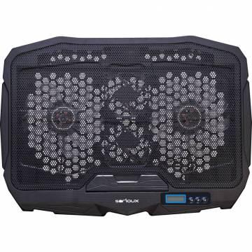 Cooler laptop NCP025, 10-17.3″, 4 ventilatoare, USB, negru