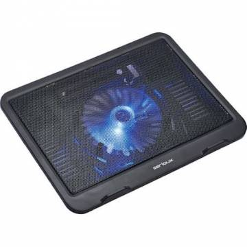 Cooler laptop NCPN19, 10-15.6″, 1 ventilator, USB, negru