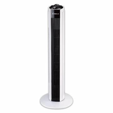 Ventilator turn Momert 2355, 45 W, 3 viteze, Timer, Negru/Alb