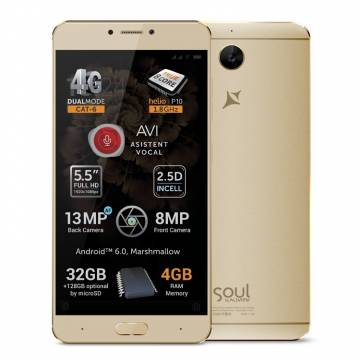 Telefon mobil Allview X3 Soul Plus, Dual SIM, 32GB, 4G, Gold