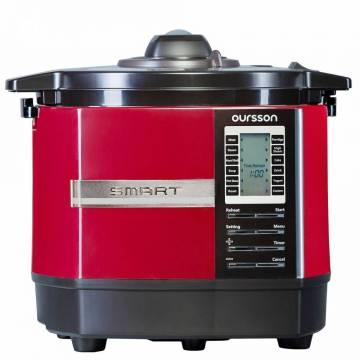 Multicooker cu presiune inalta Oursson MP5005PSD/DC, 45 programe, Timer, Afisaj LCD, Acoperire non-stick, Functie Smart, Rosu