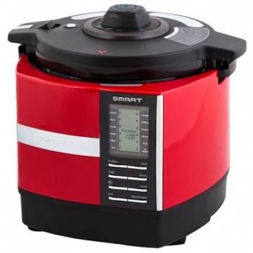 Multicooker cu presiune Oursson MP5015PSD/RD, 1200 W, 5 l, 45 programe de gatit automate, Timer, Rosu