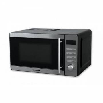 Cuptor cu microunde Heinner HMW-20DBKSS, 20 l, 700 W, Digital, Grill, Timer, Negru/Inox