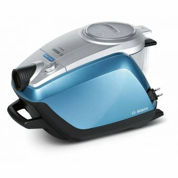Aspirator fara sac Bosch BGS5RCL, 700 W, 3l, Filtru Rotation Clean System , HEPA lavabil, perie multifuncțională SilentClean Premium, Albastru/Argintiu