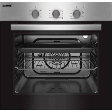 Cuptor incorporabil Samus SC616GTXV, Electric, 62 litri, Clasa A, 3 Ani Garantie, Inox