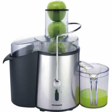 Storcator de fructe si legume Heinner XF-1000SS, 1000 W, Recipient suc 1 l, Recipient pulpa 2 l, 2 Viteze, Tub de alimentare 75 mm, Inox