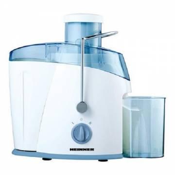 Storcator de fructe si legume Heinner Fresh SF-400, 400 W, Recipient suc 0.45 l, Recipient pulpa 1 l, 2 Viteze, Tub de alimentare 65 mm, Alb