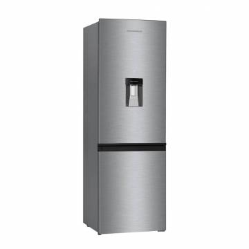 Combina frigorifica Heinner HC-H273XWDF+, 267 l, Clasa A+, Control mecanic, Dispenser apa, H 176 cm, Inox