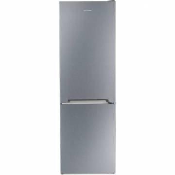Combina frigorifica Heinner HC-V336XA+, 336 l, Clasa A+, H 186 cm, Tehnologie Less Frost, Control mecanic cu termostat ajustabil, Argintiu
